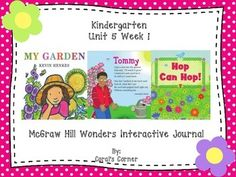 This Kindergarten interactive journal is aligned to Common Core and to the McGraw Hill Wonders series for Unit 5-Week 1. These journal entries allow students to be engaged while reading the text.