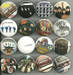 This listing features a set of 16 designs featuring the Beatles album cover catalog, mainly using the British releases. I did add a few American issues in there (Hey Jude, Magical Mystery Tour), and a