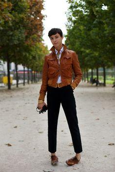 Alessandra Colombo, Milano « The Sartorialist. Fashion designer. Loves the androgynous style.