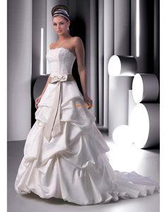 trägerloser Ausschnitt Glamourös & Dramatisch Natürlich Brautkleider 2014