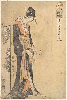 The Hour of the Ox (1 A.M.–3 A.M.) ・ Kitagawa Utamaro (Japanese, 1754–1806)