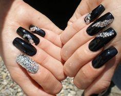 #black #silvers #swarovski