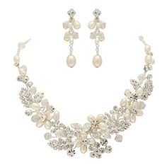Freshwater Pearl Wedding Necklace Set