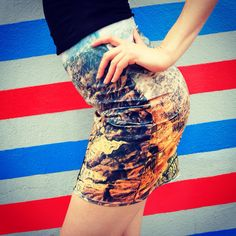 Burbank Pencil Skirt Aerial Photography Bodycon by DifferentCity