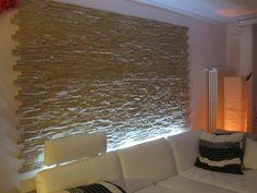 Pannelli in finta pietra Scaglia 002 installazione in stile moderno