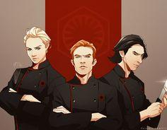 Star Wars First Order Trio Top Chef!AU by feredir