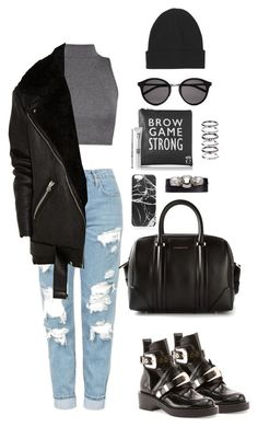 """""""Untitled #63"""" by manerefortis ❤ liked on Polyvore featuring Topshop, Balenciaga, Acne Studios, Givenchy, Yves Saint Laurent, Boohoo, Alexander McQueen and M.N.G"""
