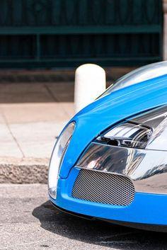 Crome and Blue Bugatti