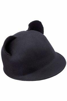 Cat Ears Black Hat