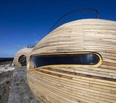 architecture organique futuriste- fenêtre en forme extraordinaire