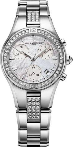 Baume et Mercier Watch Linea #bezel-diamond #bracelet-strap-steel #brand-baume-et-mercier #case-depth-10-4mm #case-material-steel #case-width-32mm #chronograph-yes #date-yes #delivery-timescale-call-us #description-done #dial-colour-white #discount-code-allow #gender-ladies #luxury #movement-quartz-battery #official-stockist-for-baume-et-mercier-watches #packaging-baume-et-mercier-watch-packaging #style-dress #subcat-linea #supplier-model-no-m0a10017…
