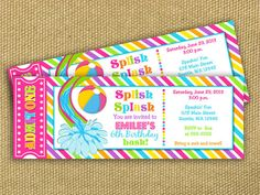 beach labels for party snacks   Summer beach party/pool ...
