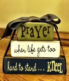 Wood Block Craft Idea - Quote blocks