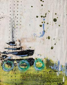 Nautical? - Encaustic on Birch by Linda Virio