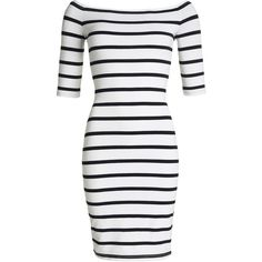 Superdry Bardot Bodycon Dress (150 BRL) ❤ liked on Polyvore featuring dresses, vestidos, winter white, women, cotton bodycon dress, cotton dress, body con dress, white dress and ivory bodycon dress