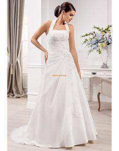 Stile Principessa Organza Senza Maniche Abiti Da Sposa 2014