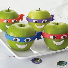 Apples or Ninja Turtles? With our turtled out decorating tips, your kids won't know the difference! Click for our TMNT apple faces how-to!