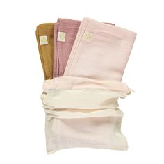 Fabric: Double Weave Cotton Weave Gauze Single muslin square measures: x Super soft cotton double gauze towels are a baby layette essential. Baby Layette, Cookie Designs, Bag Storage, London, Fabric, Squares, Pink, Clothes, Cotton Muslin