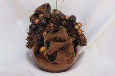 Copper colored decorated ornament by ItsAlwaysSomethingHJ on Etsy