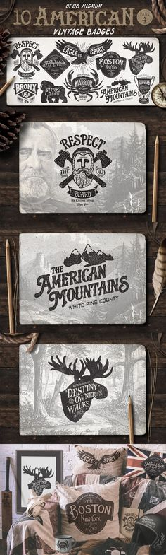 American Vintage Badges Vector Template EPS, AI #design Download: https://creativemarket.com/OpusNigrum/58511-American-Vintage-Badges-Part-4?u=ksioks