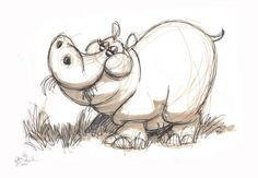 eric scales drawings | Cute hippo illustration by Eric Scales | Art | Pinterest