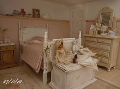 beautiful miniature bedroom