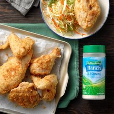 It's almost impossible to improve crispy fried chicken. A sprinkling of ranch dressing mix in the coating makes it happen, though. The empty-in-seconds serving platter is proof. —Taste of Home Test Kitchen Ingredients 4 cups Ranch Fried Chicken, Fried Chicken Recipes, Ip Chicken, Crispy Fried Chicken, Chicken Bones, Chicken Thighs, Quick Dinner Recipes, Appetizer Recipes, Great Recipes
