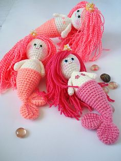 Ravelry: PDF Amigurumi Mermaid Girl Crochet Pattern pattern by AllSoCute Seren.