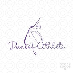A beautiful line drawing logo for dance school or academy.