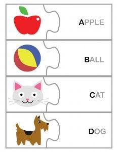 Free alphabet puzzle printable