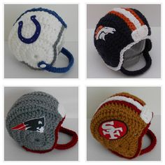 Crochet Baby Football Helmetchoose your by handmadebychhunneang, $38.95