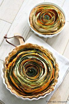 Si vous avez déjà vu cette tarte dans la presse et la blogosphère culinaires, c'est normal! Elle a eu beaucoup de succès ! Moi aussi je suis tombée sous son charme et il me fallait donc ab-so-lu-ment la réaliser ! Je l'ai baptisée la Tarte Fleur de Courgette et de Carottes car ses spirales me […]