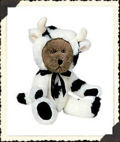 Boyds-Bear-Mookins-10-Master-of-Disguise-Cow-91862-NWT-2002-Retired