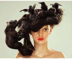 #7 Animal-Inspired Hair Sculptures Nagi Noda's Hair Hats Are Freakishly Wild