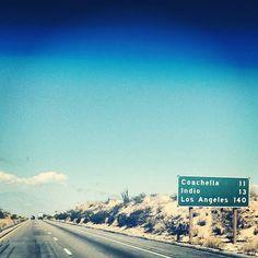 the open road. Coachella California, Southern California Beaches, Coachella Valley, California Dreamin', Balboa Beach, Coachella 2014, Coachella Festival, My Road Trip, Desert Life