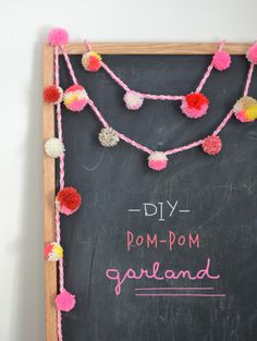 DIY Pom Pom Garland - Art Bar