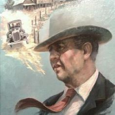 Frank Hamer painting at the Texas Ranger Museum