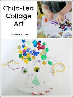 Child-Led Collage Art - a process art activity