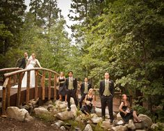 Wedding Party Pine Rose Weddings Lake Arrowhead, California enchanted forest wedding venue