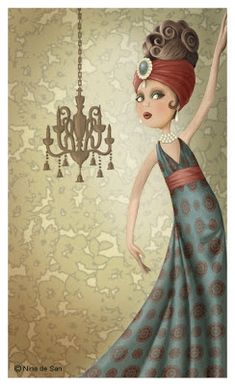 Good Evening ladies, thank you so much for all the beautiful blue art. Tonight and Sunday, let's pin art by NINA de SAN. Decoupage, Marquis, Inspiration Art, Creation Photo, Ecole Art, Fun Illustration, Holly Hobbie, Art Themes, Art Graphique