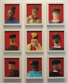 "ifechukwudee: "" blackcontemporaryart: "" Awol Erizku, Heads, Grid of nine archival pigment prints in custom white frames "" Bro. Duane Michals, My Silence, Dope Hairstyles, New York Art, African Diaspora, The Only Way, Color Photography, Art Gallery, Retro"