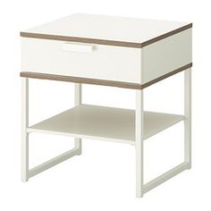 TRYSIL Bedside table - white/light grey - IKEA - potential console hack