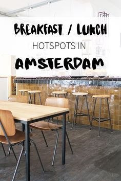 """Which hotspots to visit for breakfast or lunch in Amsterdam? On travel blog http://www.yourlittleblackbook.me there's a list of must visit hotspots, restaurants and cafes. Planning a trip to Amsterdam? Check http://www.yourlittleblackbook.me/ & download """"The Amsterdam City Guide app"""" for Android & iOs with over 550 hotspots: https://itunes.apple.com/us/app/amsterdam-cityguide-yourlbb/id1066913884?mt=8 or https://play.google.com/store/apps/details?id=com.app.r3914JB"""