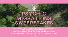 WIN A TRIP for 2 to the Global Premiere of Psychic Migrations in Newport Beach, CA! / Volcom #Volcom