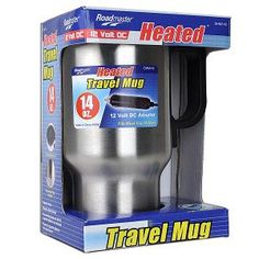 "Roadmaster Travel Mug Stainless Steel Heated Electronic DC Adapter Deal Check out today's ""Deal of the Day"" at TripleClicks. You save off the regular price on Roadmaster Travel Mug Stainless Steel Heated Electronic DC Adapter. Auction Bid, Auction Items, Deal Of Day, Cool Things To Buy, Stuff To Buy, Drip Coffee Maker, Travel Mug, Gadgets, Minion"