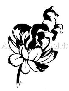 design lotus born tattoo commish by WildSpiritWolf on deviantart cool design for back body tattoo, upper back tattoo or arm tattoo