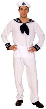 Classic sailor fancy dress costume for men
