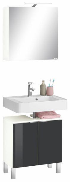 Waschbeckenunterschrank Milan - Eiche Findus Dekor, Schildmeyer - regale für badezimmer