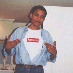 Young Obama wearin' a Supreme Box Logo Tee _________________________________ #barackobama #obama #president #supreme #suprēmenewyork #newyork #ny #newyorkcity #nyc #fashion #instacool #instagood #instagram #instalike #instadaily #instafashion by blkvis http://ift.tt/1S848bU