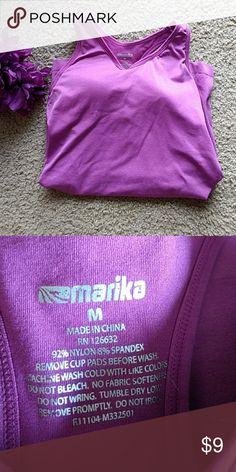 💙Sale💙 Purple tank Has built in bra. Marika Tops Tank Tops